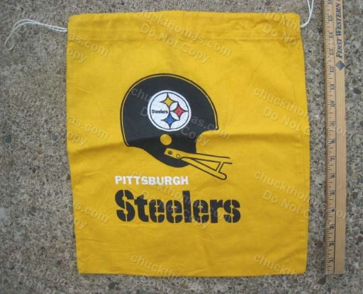 Older Steeler Helmet Drawstring Cloth Carry Bag