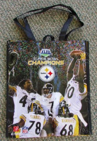 Steeler Reuseable Super Bowl Shopping or Gift Player Photo Bag
