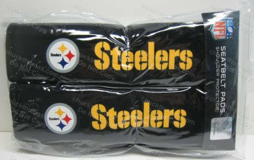 Steeler Logo Seat Belt Shoulder Pads