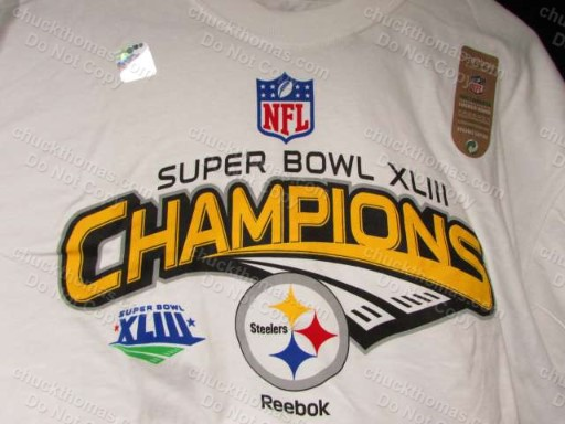 Steelers Super Bowl 43 Champions OFFICIAL Reebok Locker Room Tee - XLarge