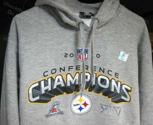 Steelers 2010 AFC Champs Ash Hoodie