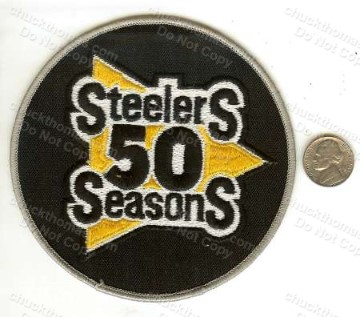 Steelers 50 Season 4 1/2 Inch OLD Cloth Jersey Patch