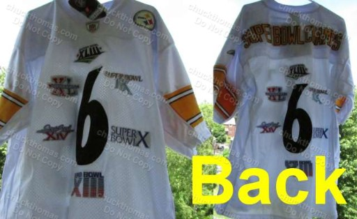 Steelers 6X Champs Number 6 Reebok Jersey Size 52 ALL 6 Superbowl Patches sewn on