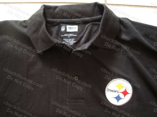 Steeler Black Polo Shirt