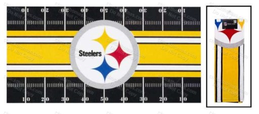Steelers Playing Field Beach Towel