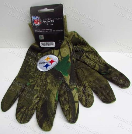Steel Logo Steelers Camo Pattern Utility Gloves