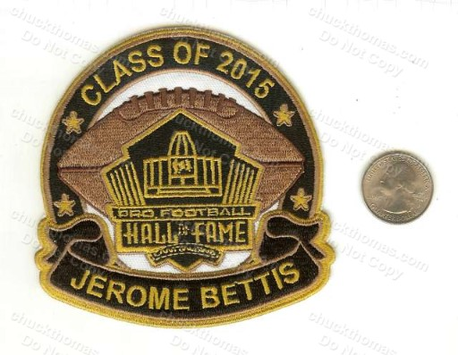 Jerome Bettis 2015 Hall of Fame Patch