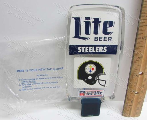 Steeler Helmet Logo Heavy Acrylic Beer NEW Tap Handle