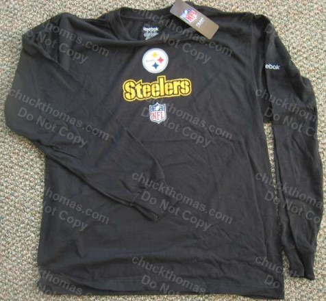 Steeler Steel Logo Long Sleeve Black Shirt