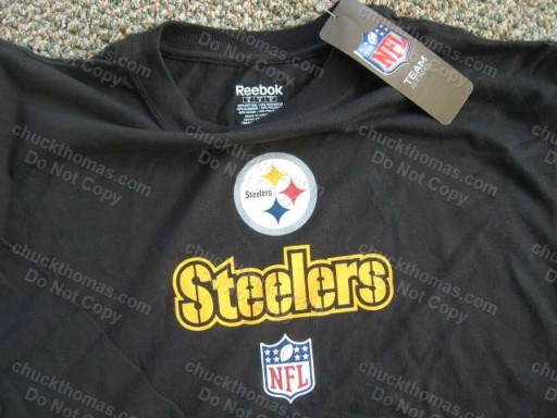 Steelers Football Long Sleeve Black  Shirt