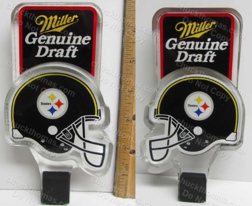 Steeler Helmet Miller Genuine Draft Tap Handle NICE !