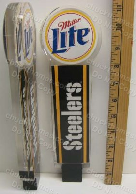 Steelers and Miller Lite Heavy Polyerethane HEAVY Tap Handle NEW