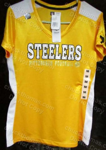 Steelers Woman's Gold Jersey Like Top