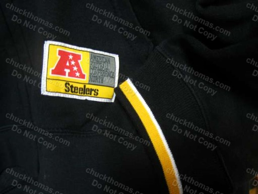Steelers Black and Gold Zippered Hoodie