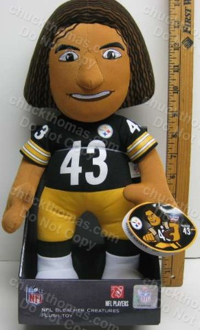 Bleacher Creature Steeler Troy Polamalu 13 Inch Plush Doll
