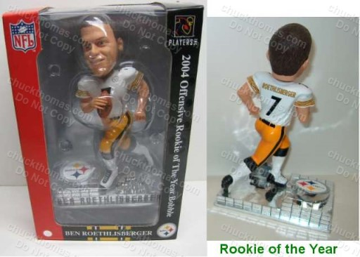 Ben Roethlisberger Rookie of the Year Bobblehead Doll