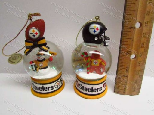 Steelers Danbury Mint Snow Globe Christmas Ornament