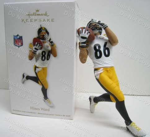 Steeler Hines Ward Number 86 Hallmark Ornament