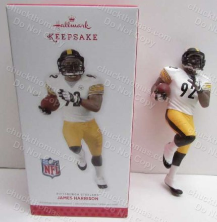 Steeler James Harrison Hallmark Ornament