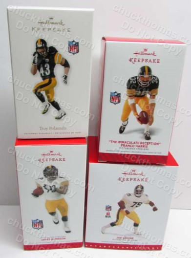 Steeler 4 Different Hallmark Ornament Starter Set