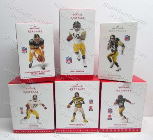 Steeler Keepsake Ornaments Ben Troy Greene Brown Harrison