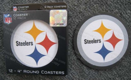 12 Steeler Coasters