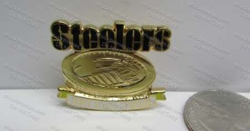 Steelers Pin Showing the Old 3 Rivers Stadium