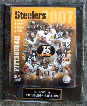 A Pittsburgh Steelers Football Plaques Posters Silver Coins