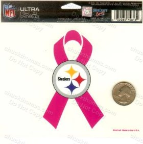 Steelers and Breast Cancer Pink Ribbon Decal
