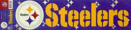 FREE Reflective Steeler Bumper Sticker