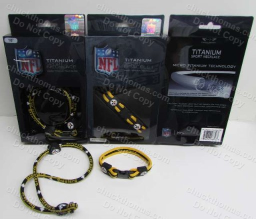 Steelers Titanium Necklace and Bracelet