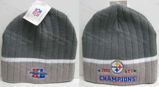 Steelers AFC Champs 2005 Knit Ski Hat