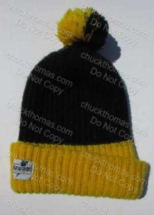 521a4bc178d Boy Scout Gatorade Steel Logo Steeler Knit Pom Pom Tassel Hat 1970s