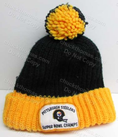 1980s Steeler ORIGINAL Knit Tossle Hat