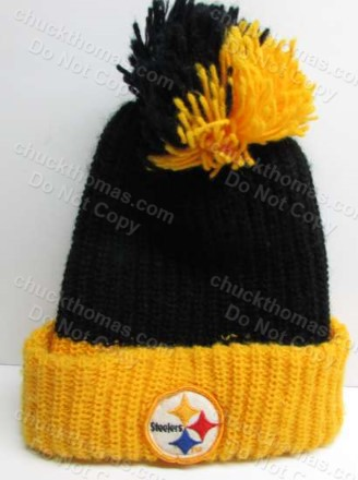 1980s STEELER Football ORIGINAL Knit Tossel Hat