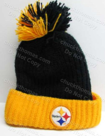 1980s ORIGINAL Steeler Knit Tossle Hat