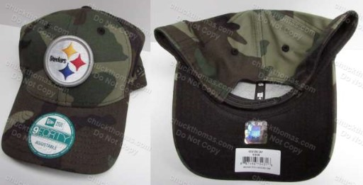 Steeler Steel Logo New Era Brand Camo Ball Cap