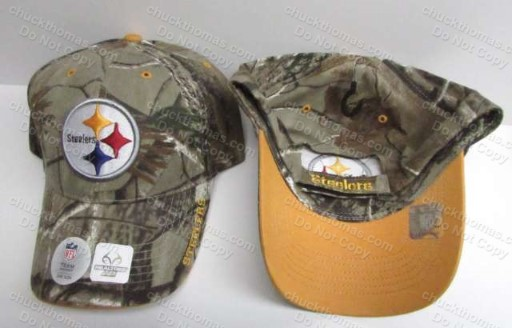 Steeler Football Realtree Brand Camo Ball Cap