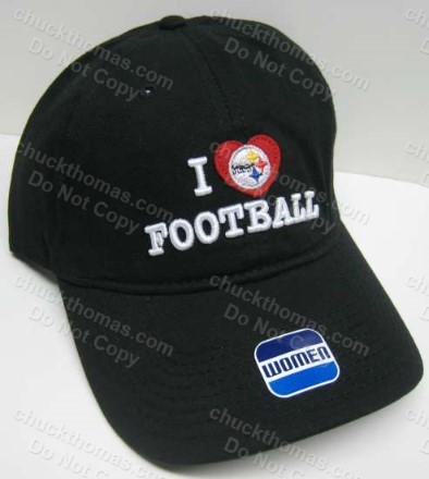 Women's I Love Football Red Hat Ball Cap