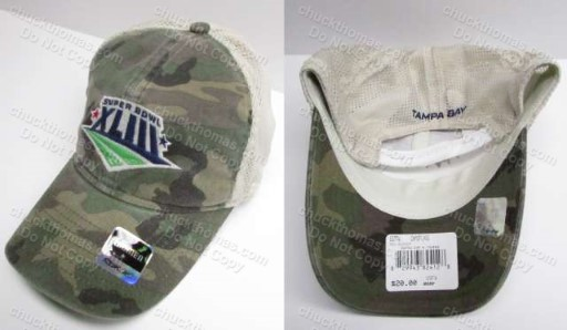 Steeler Women Reebok Camo Super Bowl 43 Ball Cap