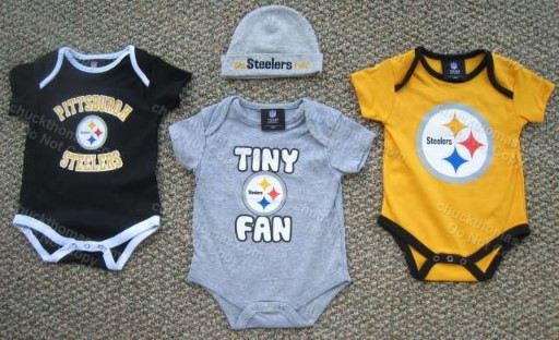 Steeler Baby Bodysuit and Cap
