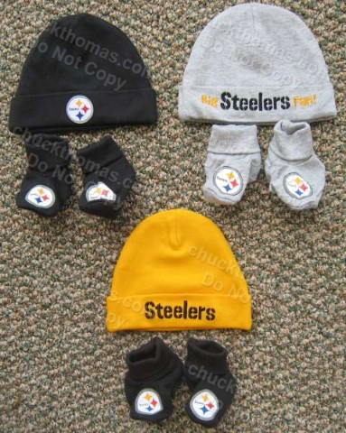 Steelers 0 to 6 Month Infant Cap and Booties