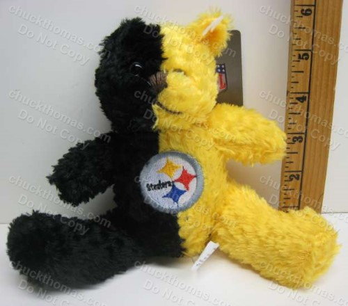 Steelers BLACK and GOLD Talking Plush Bear