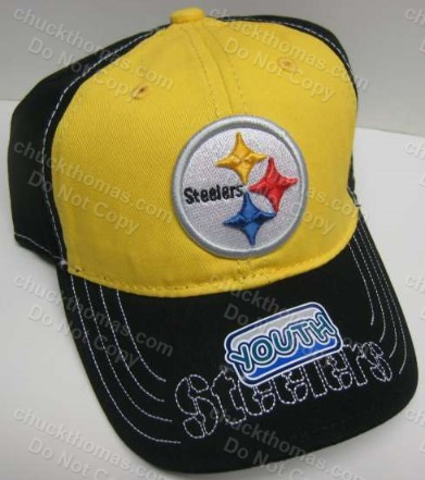 Steelers Youth BLACK and GOLD Ball Cap