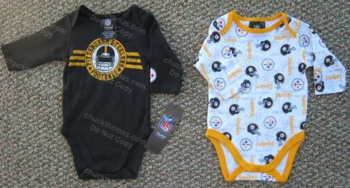 Steelers Long Sleeve BLACK or WHITE Onesie