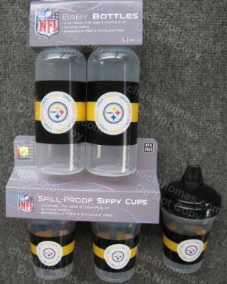 Steeler Baby Bottles and Sippy Cups