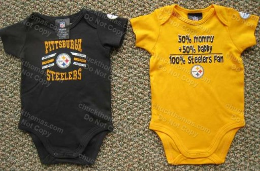 Steelers BLACK or GOLD Short Sleeve Bodysuit Onesie