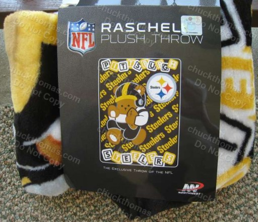 Steelers Baby Bear Pattern Plush Throw Blanket