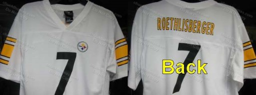 Steelers Ben R or Troy P Black or White Youth Jerseys