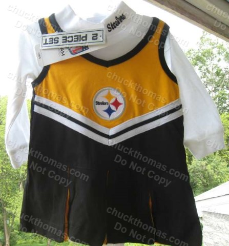 Steelers Infant and Baby  2 Piece Cheerleading Outfits